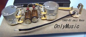 Surprising Compatible With 1960 61 Fender Jazz Bass Repro Vintage Wiring Harness Wiring Digital Resources Millslowmaporg