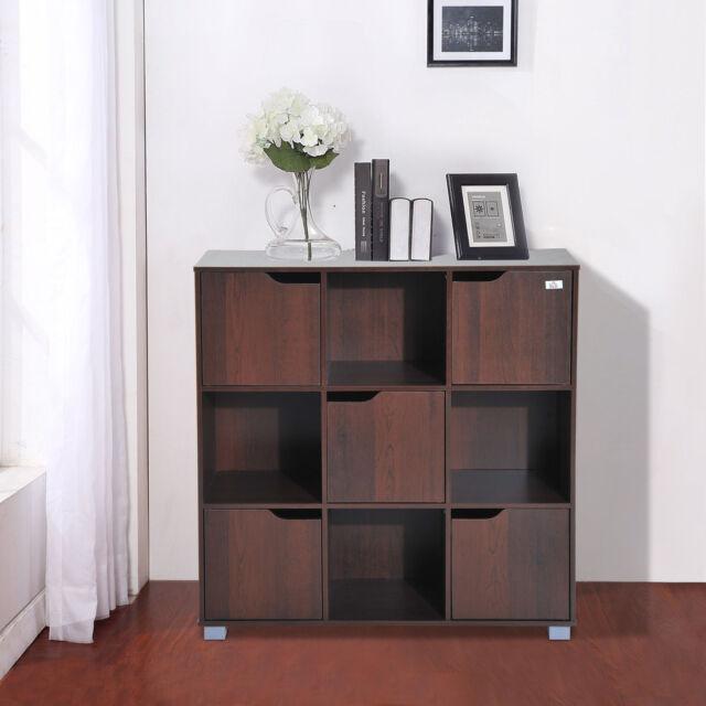 HOMCOM 9 Cube Bookcase Bookshelf Display Storage Organizer Wooden