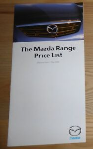 2019 DernièRe Conception Mazda Gamme Uk Liste Des Prix. Mai 2000-afficher Le Titre D'origine 100% D'Origine