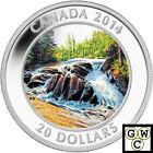 2014 'River Rapids' Colorized Proof $20 Silver Coin 1oz 9999 Fine *No Tax(13902)