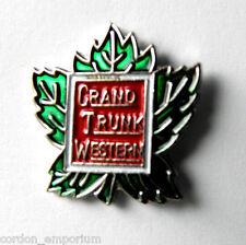 GTR RAILWAY GRAND TRUNK WESTERN RAILROAD PIN BADGE 1 INCH