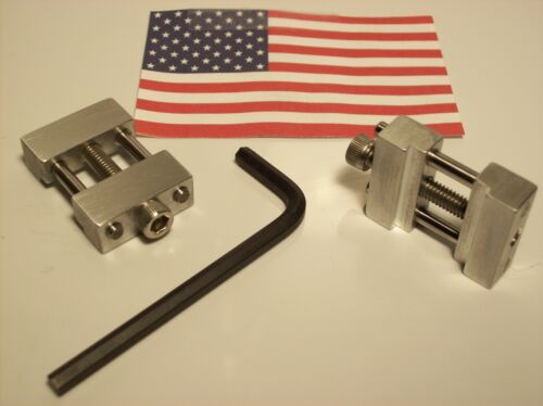 SET OF 2 MACHINE SHOP VISE STOPS FOR CNC OR MANUAL MILL VISE WORK OR HOBBY