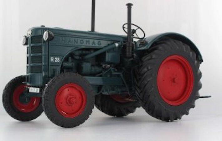 Minichamps 1 18 Hanomag R28 Tractor 1953 verde Con Ruedas rosso