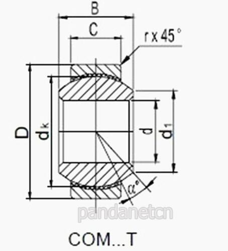 """1pcs 3//8/"""" COM6T 3//8/"""" Inch Hole Spherical Rose Joint Bearing New"""
