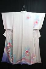 10v5405 Silk Tall Japanese kimono Robe Dress Houmongi Elegant Flower