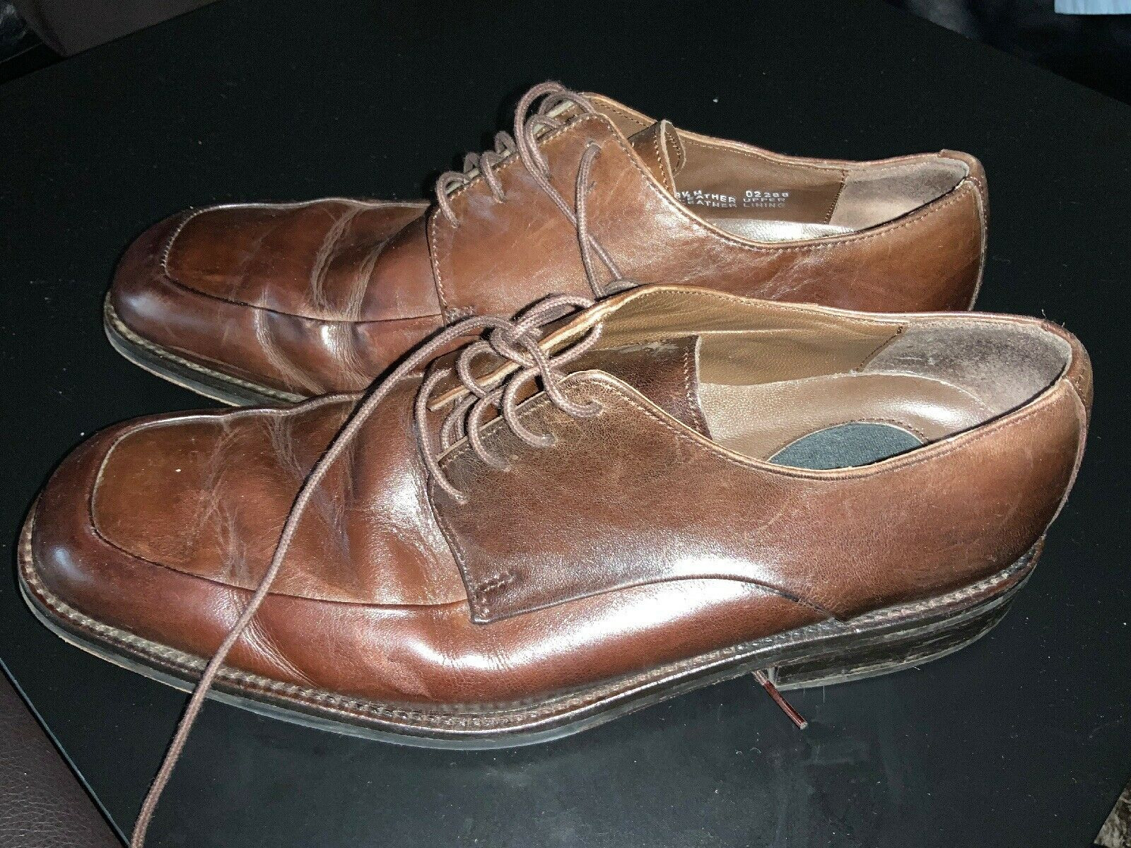 Men's Banana Republic Brown Leather Oxfords US 8.5 M