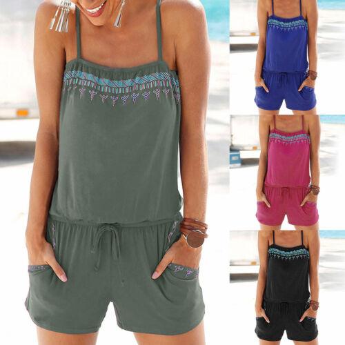 Mini Tuta Moda Tuta Donna Salopette Beach Estate Dress Pagliaccetto BEEXw