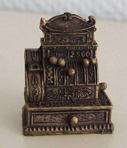 Kasse Registrierkasse Dunkel Matt 1.462//5 für Puppenstube Reutter Miniaturen