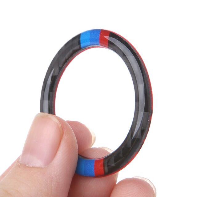 Key Start Button Ring Decor Trim Carbon Fiber for BMW 3 Series E90 E92 E93