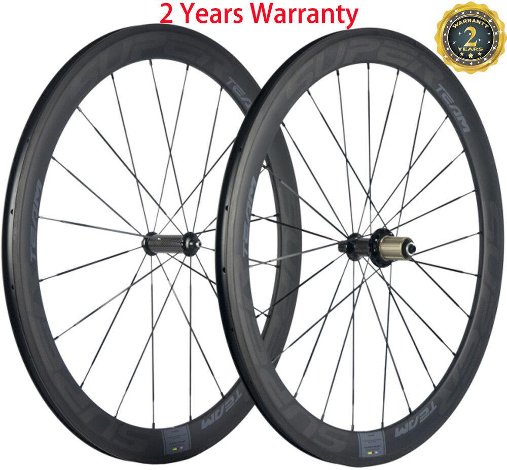 60mm Clincher Wheels Road Bike Carbon Wheels Ceramic R36 Sapim Spoke 25mm Width