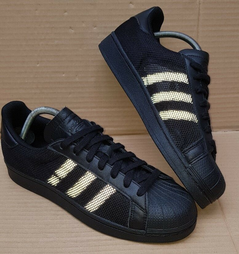 NEW ADIDAS SUPERSTAR ADICOLOR  noir  MESH REFLECTIVE LIMITED EDITION SIZE 7.5 UK