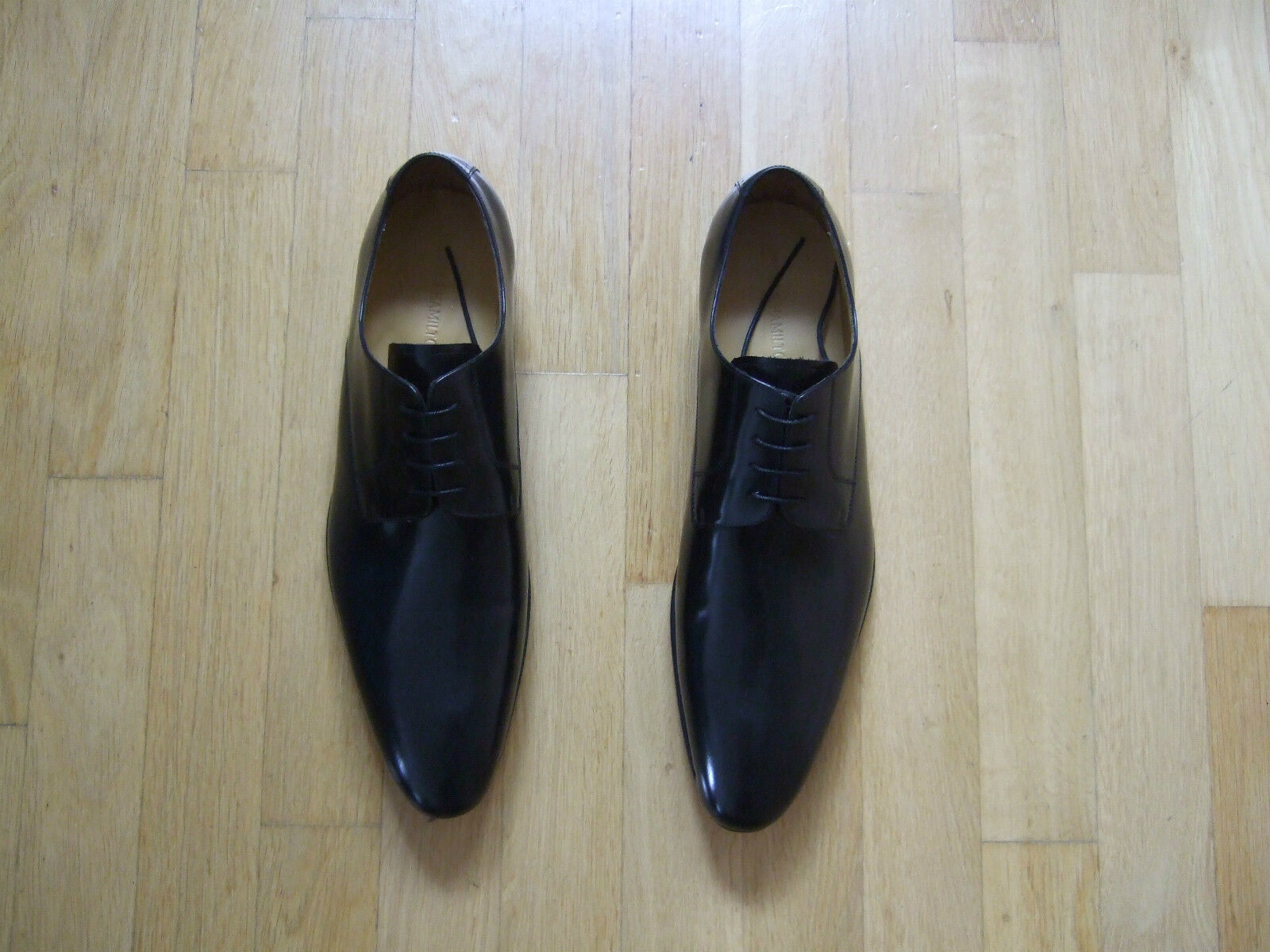 Neu HAMILTON elegante Schnürrschuhe MELVIN & HAMILTON Neu Größe 52 schwarz innen außen Leder b732dc