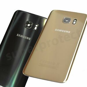 buy online f469e aaff9 Details about Genuine Samsung Galaxy S7 Edge G935F Back Glass Battery Cover  Panel camera lens