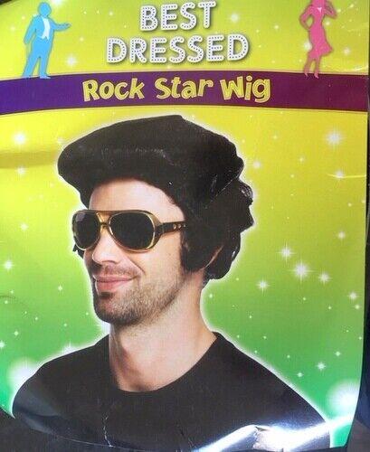 Men/'s Rockstar Wig Rock Star 80s Dude Bogan Elvis Party Costume WIGS REDUCED