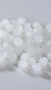 100pcs-Matt-WHITE-4mm-Bicone-Crystals-Beads-Findings-Spacer-DIY-Craft-Jewellery