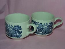 Johnson Bors blue willow Set Of 2 cups from England