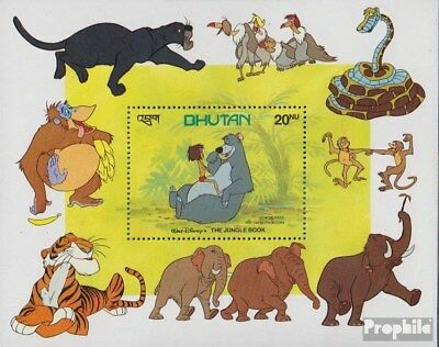 Bhutan Block91 Never Hinged 1982 Walt Disney Z Ture 100% Guarantee complete Issue Unmounted Mint