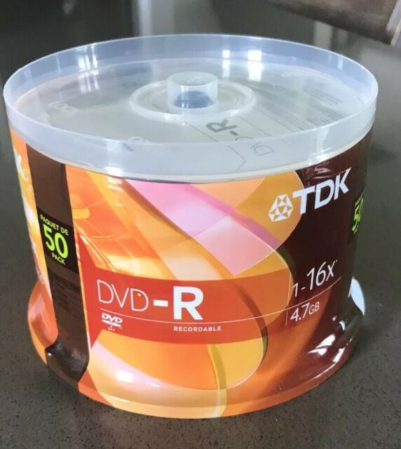 New TDK DVD-R 50 Pack 4.7GB 1-16X Factory Sealed