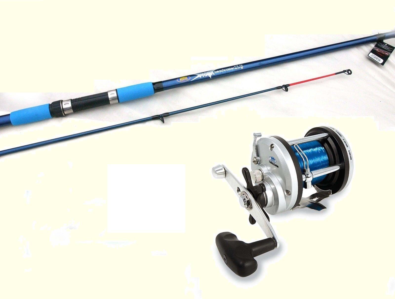 Lineaeffe Vigor Beachcaster rod 12ft 3.6mtr & JD300 Multiplier Fishing Reel Line