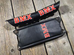 OLD SCHOOL BMX MX HANDLEBAR PAD QUILL STEM PAD NOS RED COLOR BMX
