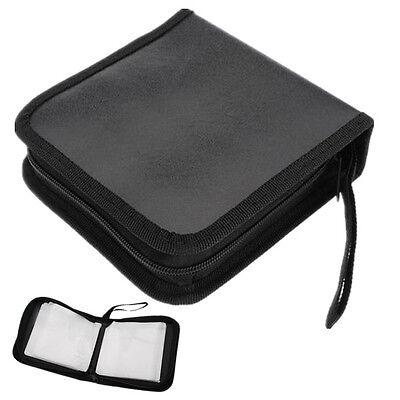 40 Disc CD DVD Storage Case Wallet Holder Organizer Bag DJ Carrier Leather&Nylon