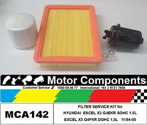 FILTER-SERVICE-KIT-for-HYUNDAI-EXCEL-X3-1-5-Litre-11-94-00