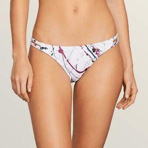 VOLCOM TILLYS Women/'s Medium White Bikini Hipster Bottoms Swim Surf Volley New
