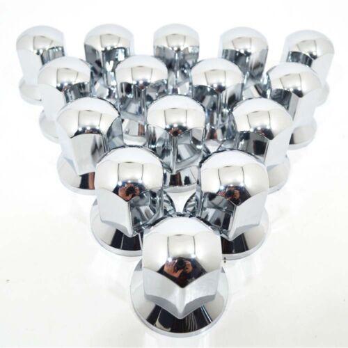 40 x 33 mm Tapas Cubre Tapones para Tuercas de Rueda Cromo Plástico Camion P26