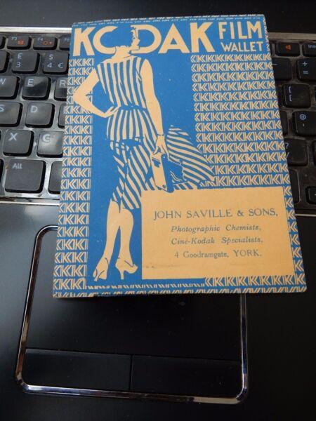 AgréAble John Saville Kodak Dealer York Art Deco Dossier Folio Appareil Photo Photographe L