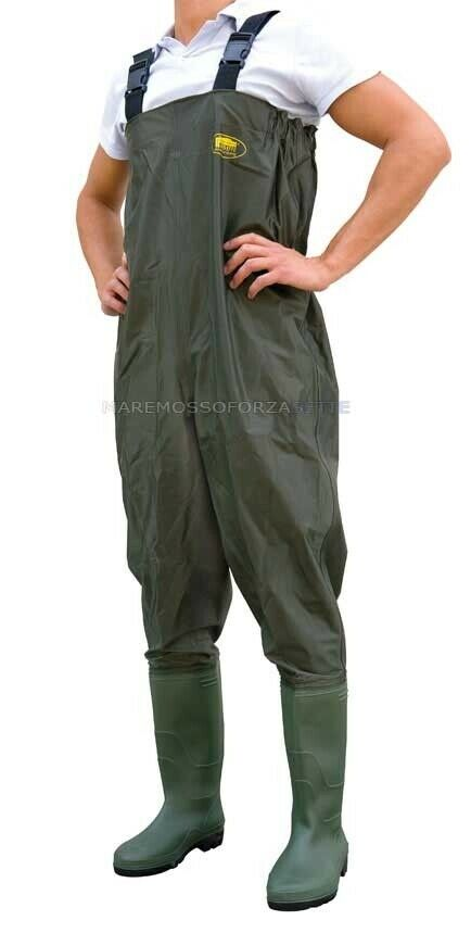 STIVALE SCAFANDRO WADERS IN POLYESTERE SIZE 45 POLYESTER CHEST WADER