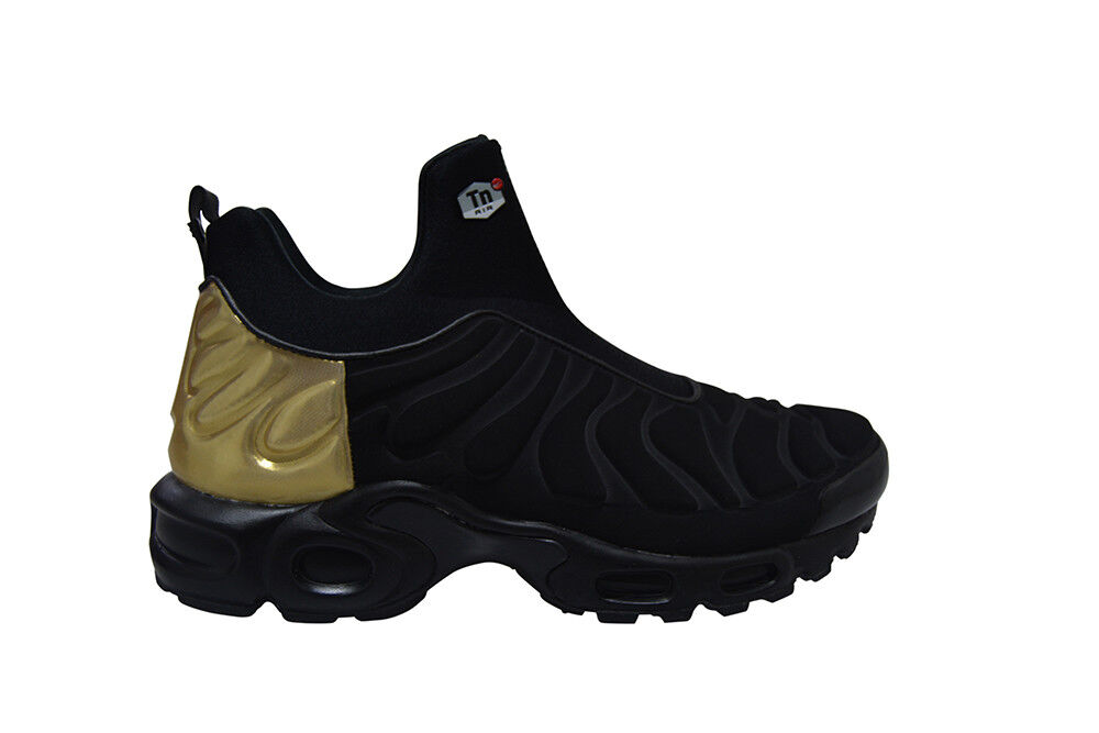 Womens Nike Air Max Plus Slip SP - 940382 001 - Black gold Trainers
