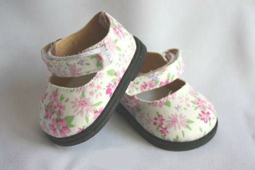 Doll  Shoes 84mm Blossom Flowered Shoes For Reborn Baby ~ REBORN DOLL SUPPLIES