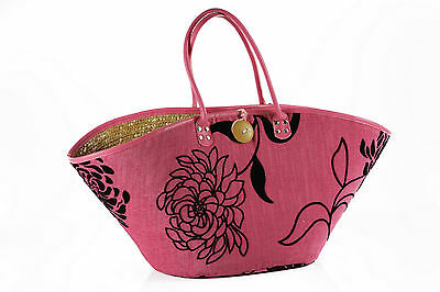 Sommertasche Groß, Beachbag, Strand Tasche, Korbtasche, Korbtasche Groß Rot Neu