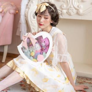 Lolita-giapponese-Carini-Fiocco-Peach-TRASPARENTE-itabag-Borsetta-Borsa-a-Tracolla-Messenger