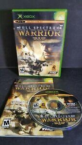 FULL-SPECTRUM-WARRIOR-Xbox-Complete-in-Box-w-Manual-CIB-Acceptable