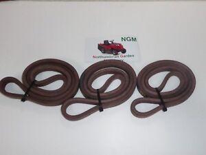 MTD LAWNFLITE 604LA 603LT 603G 603RT Motion Drive Belts x3 Forward and Reverse