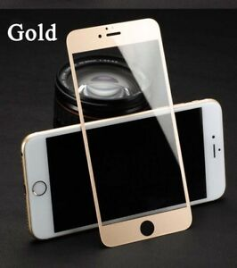 100% Genuine 3D Full Tempered Glass Screen Protector for Apple iPhone 8 - Gold