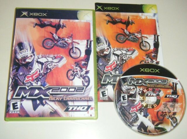 MX 2002 Featuring Ricky Carmichael GAME for your original XBOX system GC E KIDS