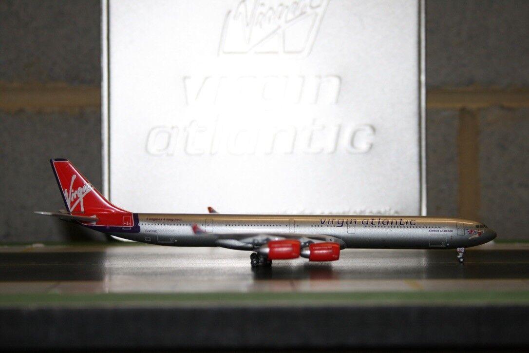 Gemini Jets 1 400 Virgin Atlantic Airbus A340-600 G-VOGE GJVIR388 Die-Cast Model