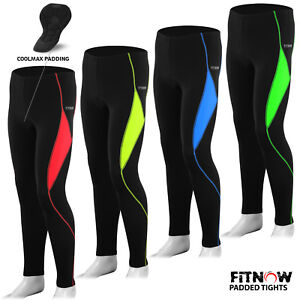 6ce3b4750733f Image is loading Mens-Cycling-Tights-Winter-Thermel-CoolMax-Padded-Bicycle-