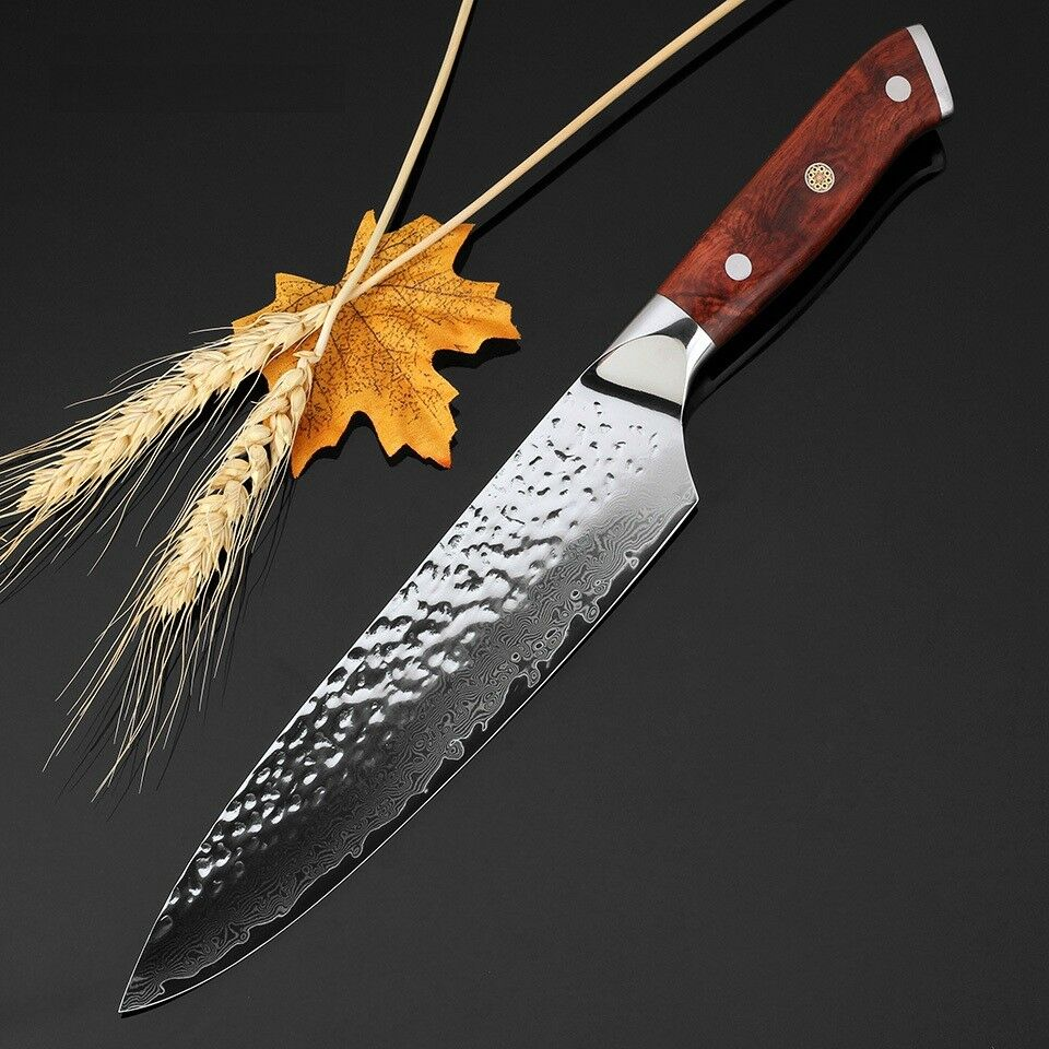 Gyuto Chef Japanese Knife Damascus 67 Layers Steel VG10 Wood Handle Kitchen Meat