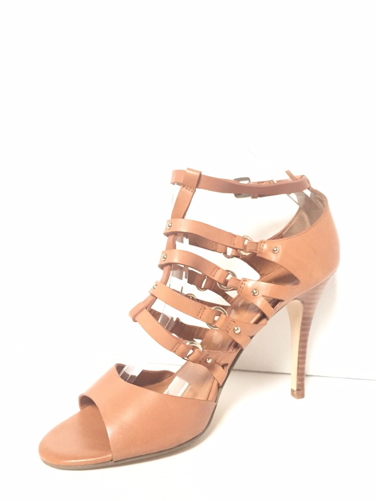 IVANKA TRUMP braun Leather Leather Leather Strappy Stiletto Sandal 9.5 BRAND NEW a68bb9
