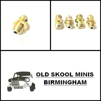 Classic Mini Straight Front Suspension Ball Joint Rear Radius Arm Grease Nipple