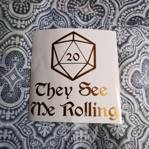 "D/&D Dungeons Dragon Rolling 5.5/"" Vinyl Decal Sticker Auto Gaming DnD RPG Die D20"
