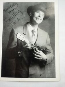 """Ian Whitcomb """"Smiling Jack"""" Autographed printed Exhibit Fan Photo Card 4"""" x 5.5"""""""
