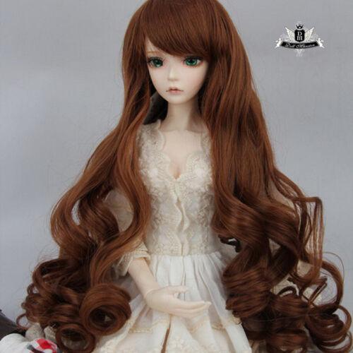 9-10 1/3 BJD or 70cm BJD Wig Dollfie SOOM Luts EID DOD AOD MID Wig Brown Hair