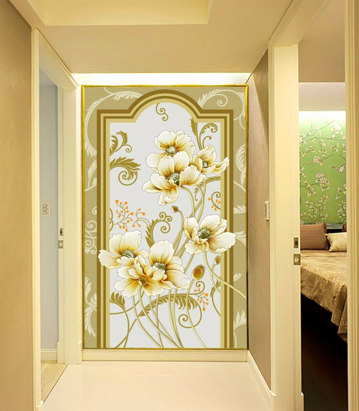 3D Flowers dazzling 4243 Wall Paper Wall Print Decal Wall Indoor Murals Wall US