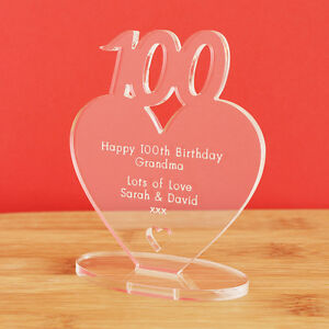 Image Is Loading 100th Birthday Personalised Milestone Heart Keepsake Gift Idea
