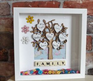 Personalised-Family-Tree-Frame-Buttons-Birthdays-Mothers-day-gift