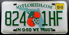 """USA Nummernschild Florida """"IN GOD WE TRUST"""" mit zwei Orangen """"1HF"""".13529."""